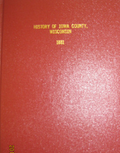 History of Iowa County Wisconsin 1881